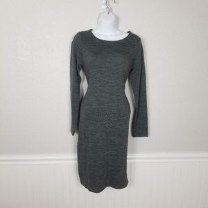 LOLE Dark Heather Gray Long Sleeve Travel Dress